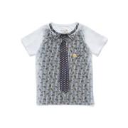 【55%OFF】トロンプルイユ シャツ風 カットソートップ ホワイト 8 ベビー用品 > 衣服~~ベビー服