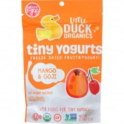 Little Duck Organics Freeze Dried Fruit and Yogurt - Tiny Yogurts - Organic - Mango and Goji - Ages