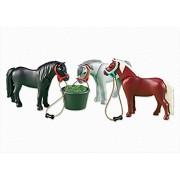 Playmobil 6256 3 poneys et mangeoire Nouveaute 2013