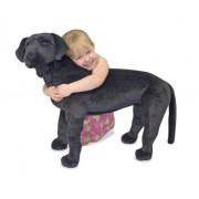 Melissa & Doug - Labrador de peluche, color negro (12117)