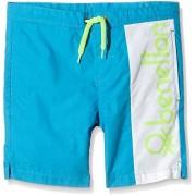 Benetton 4AC7598J0 short Niñas, Azul (Blue/White), 7-8 años (Talla del fabricante: Medium)