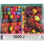 Ceaco 2 Puzzles in 1 Pack- Southwest Theme Each Puzzle Has 1000 Pieces
