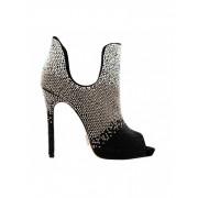 Pantofi Paris Dream negru argintiu