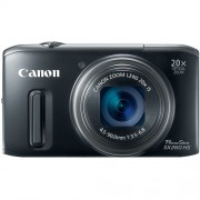 Canon PowerShot SX260 HS 12.1MP Point-and-Shoot Digital Camera (Black) with 4GB SD Card, Camera Case