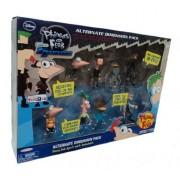 Disney Phineas and Ferb Exclusive Across The 2nd Dimension PVC Mini Figure 8Pack Alternate Dimension Pack Phineas Ferb Platyborg Dr. Doofenshmirtz