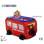 Tenda da gioco dei vigili del fuoco 127x72x72 cm camioncino dei pompieri per bambini Linea Cigioki