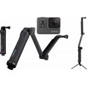 GOPRO actioncam GOPRO HERO5 Black 3-Way Set 4K (Ultra HD), WLAN, Bluetooth