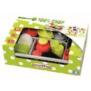 Set cu uscător pentru vase Écoiffier 100 % Chef 1210-Z verde-roșu-argintiu