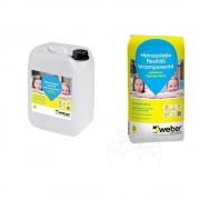 Hidroizolatie Weber.Tec Hydroprotect Kit (sac: 20 kg + bidon: 10kg)