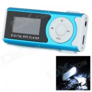 """1.2 Player """"OLED MP3 c/ antorcha / Clip / TF / Mini USB - Azul + Negro"""