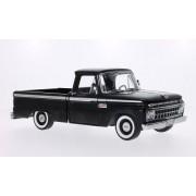 Ford F-100 aduanas cabina Pickup, negro, 1965, Modelo de Auto, modello completo, sol estrella 1:18