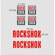 Adesivi rock shox per forcella mtb stickers fork