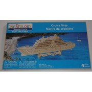 Creatology Wooden 3D Puzzle Cruise Ship Wood Model Kit Yacht