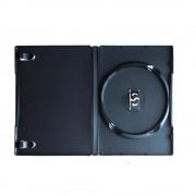 Box para DVD Amaray Tradicional Preto com 50 unidades