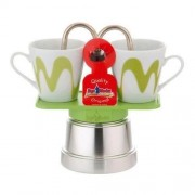 "Set Espressor Moka model ""Mini"" RED"