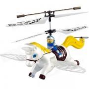 Syma S2 3.5-CH Caballo Estilo IR remoto R / C Helicoptero w / Gyro / Lampara - amarillo + blanco (4 x AA)