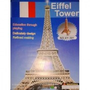 Eiffel Tower For Education Through Playing in Foam And Paper For Puzzle Game