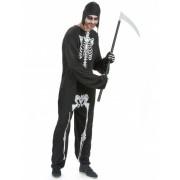 Disfarce esqueleto homem Halloween Tamanho único