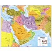 Wandkaart Middle East - Midden Oosten, 120 x 100 cm   Maps International