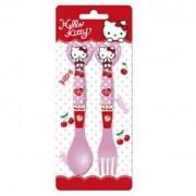 Hello Kitty műanyag evőeszköz készlet