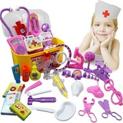 New Akira Creative Doctor Medical Play Set Pretend Carry Case Medicine Box Playing Toys