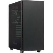 Cooltek QT03A Midi-Toren Zwart computerbehuizing
