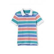 ランズエンド LANDS' END ボーイズ・ポロ/ストライプ柄/半袖/ポロシャツ【キッズ・子供服・男の子】(マリタイムティールストライプ)