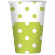 Pahare 470 ml Pois Verde 6 buc/Set Big Party