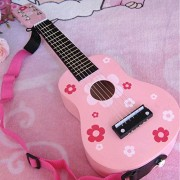 Childrens Wooden Acoustic Guitar kids music Instruments gift 6 string mini guitar Playable Musical Instrument...