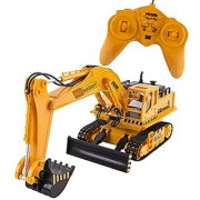 Big-Daddy Full Functional Excavator Electric Rc Remote Control Construction Tractor Toy (with Lights and Sounds)Indoor & Outdoor Play Activity