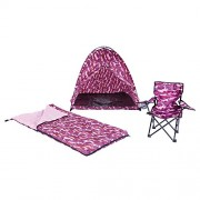 Pacific Play Tents Pink Camo Tent Set (Tent/Sleeping Bag/Chair)