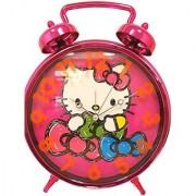 Hello Kitty Jumbo Twin Bell Pink Clock Age 8+