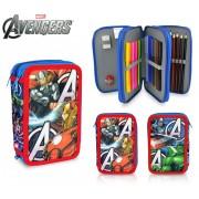 AV16109 Astuccio portapastelli 3 cerniere 43 pz scuola The Avengers colori