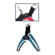 Bordado tres ejes Easy Fit-con tapa de plástico con borde reflectante azul claro Talla:Tg. 1.5 (fino a 4 Kg)