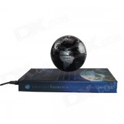 TOP-FLIGHT 85mm Book Style Rotation Magnetic Levitation Globe - Black
