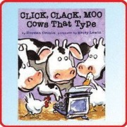 Click, Clack, Moo Cows That Type by Doreen Cronin - Hardcover