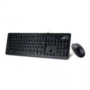 Genius-Slimstar-C130-USB-SER-Tastatura-mis-Black