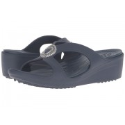 Crocs Sanrah Beaded Wedge Sandal Navy