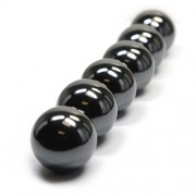"""6 Pieces of CMS Magnetics 1.26"""" Sphere Magnet for Science and Fun. Magnetic Rattlesnake Eggs and Magnetic Hematite Zingers"""