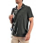Eddie Bauer Kurzarm-Poloshirt mit Streifen