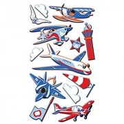 EK Success Puffy Dimensional Stickers Funny Planes