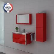 Distribain Meubles salle de bain DIS025-900CO Rouge Coquelicot