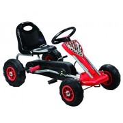 Vroom Rider Speedy Pedal Go-Kart Ride Ons with Pneumatic Tire, Red by Vroom Rider