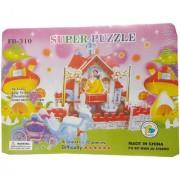 Blue Lotus 3D Puzzle Doll House