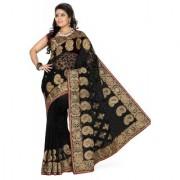 Triveni Startling Heavy Embroidered Net Saree