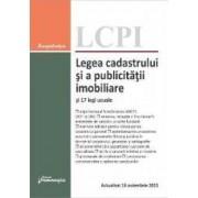 Legea cadastrului si a publicitatii imobiliare si 17 legi uzuale act. 16 noiembrie 2015