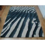 Вълнен Килим MCH7- Три нюанса сиво / Ръчни килими /