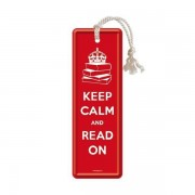 Marque-Pages En Métal : Keep Calm And Read On