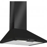 Hota Bosch DWW06W460, decorativa, latime 60 cm, capacitate maxima 390 m³/h, 1 motor, 3 viteze, filtre metalice, control cu butoane, negru