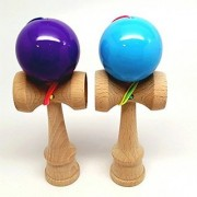 KENDAMA TOY CO. - The Best Pocket Kendama For All Kinds Of Fun (not full size) - 2-Pack - Awesome Colors: Purple and Blu